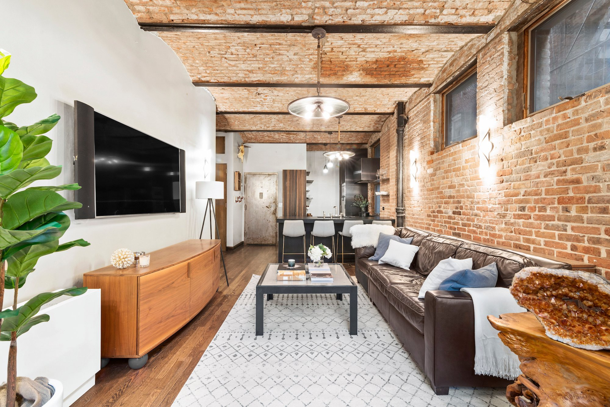 Asking 995k This Rustic West Village Co Op Has Soaring