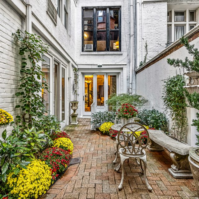 Upper East Side duplex with an enchanting, Greek-inspired garden seeks $1.9M