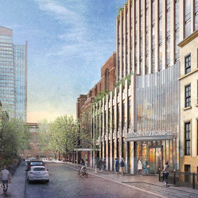New renderings revealed for FXCollaborative-designed Brooklyn Music School expansion