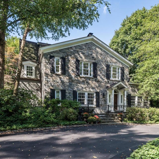 For $3.4M, this Dobbs Ferry Colonial has a terraced garden with a stone pool and grape arbor