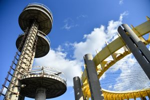 New York State Pavilion, world's fair pavilion, philip johnson, new york city department of parks, nyc parks, restoration, flushing meadows, corona park, queens, world's fair, historic sites