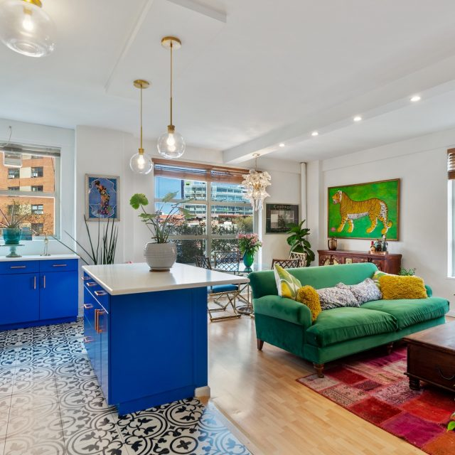 For $807K, light, pattern, and color wake up this two-bedroom Morningside Heights co-op