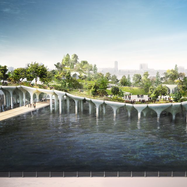 Barry Diller's $250M offshore Pier 55 park dubbed 'Little Island'
