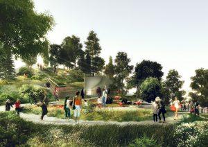 Little Island, Pier 55, Hudson River Park, Mathews Nielsen Landscape Architects, Barry Diller