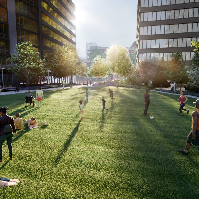 New renderings show 72,600-square-foot public park coming to Brooklyn's Pacific Park development