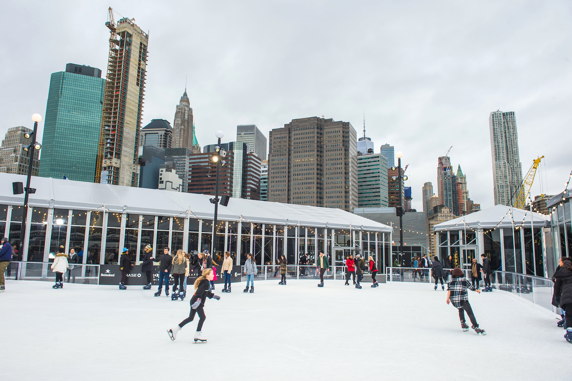 Hours For Southside Seaport Christmas Ice Rink 2020 NYC's only open air rooftop ice skating rink opens this week | 6sqft