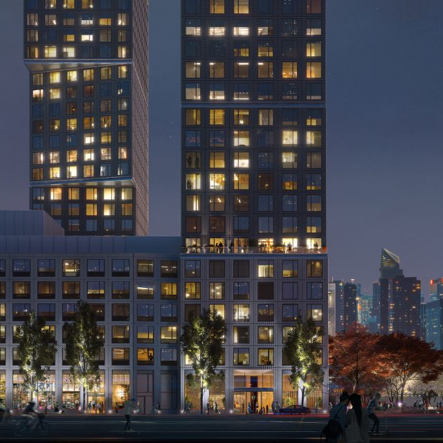 Construction breaks ground for Greenpoint Landing's OMA-designed towers