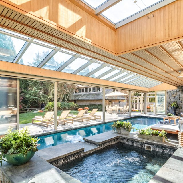 This resort-like $9.5M Hamptons home has an indoor/outdoor pool off the kitchen