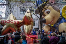 Macy's Thanksgiving Day Parade, Balloon inflation