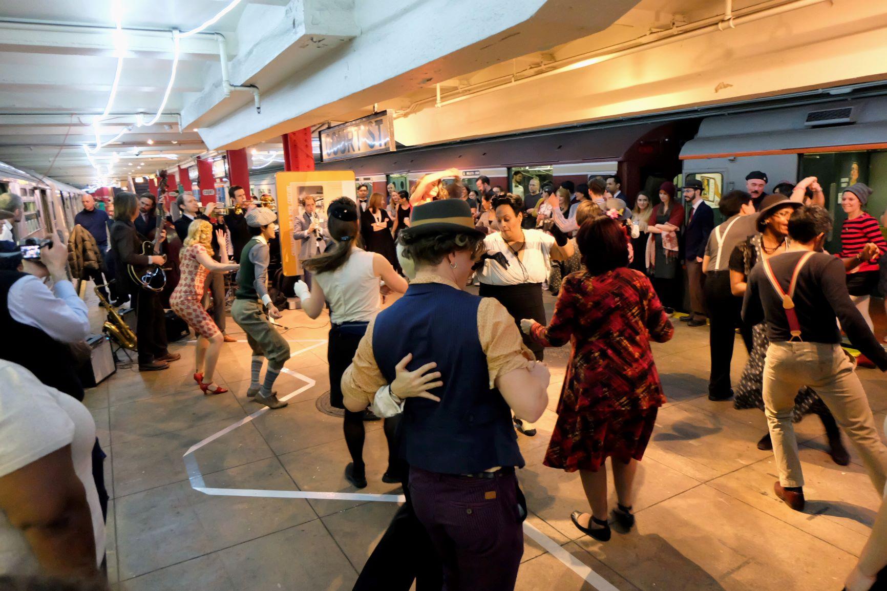 subway swing, holiday, events, transit museum, nyc subways