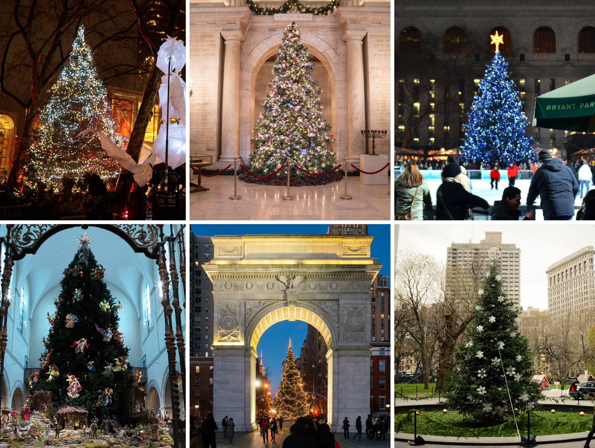 20 holiday trees in NYC that are not at Rockefeller Center | 6sqft