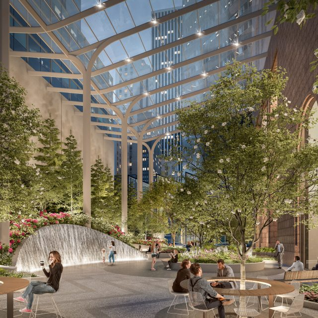 Snøhetta's transformed public space at 550 Madison Avenue will bring a much-needed oasis to Midtown