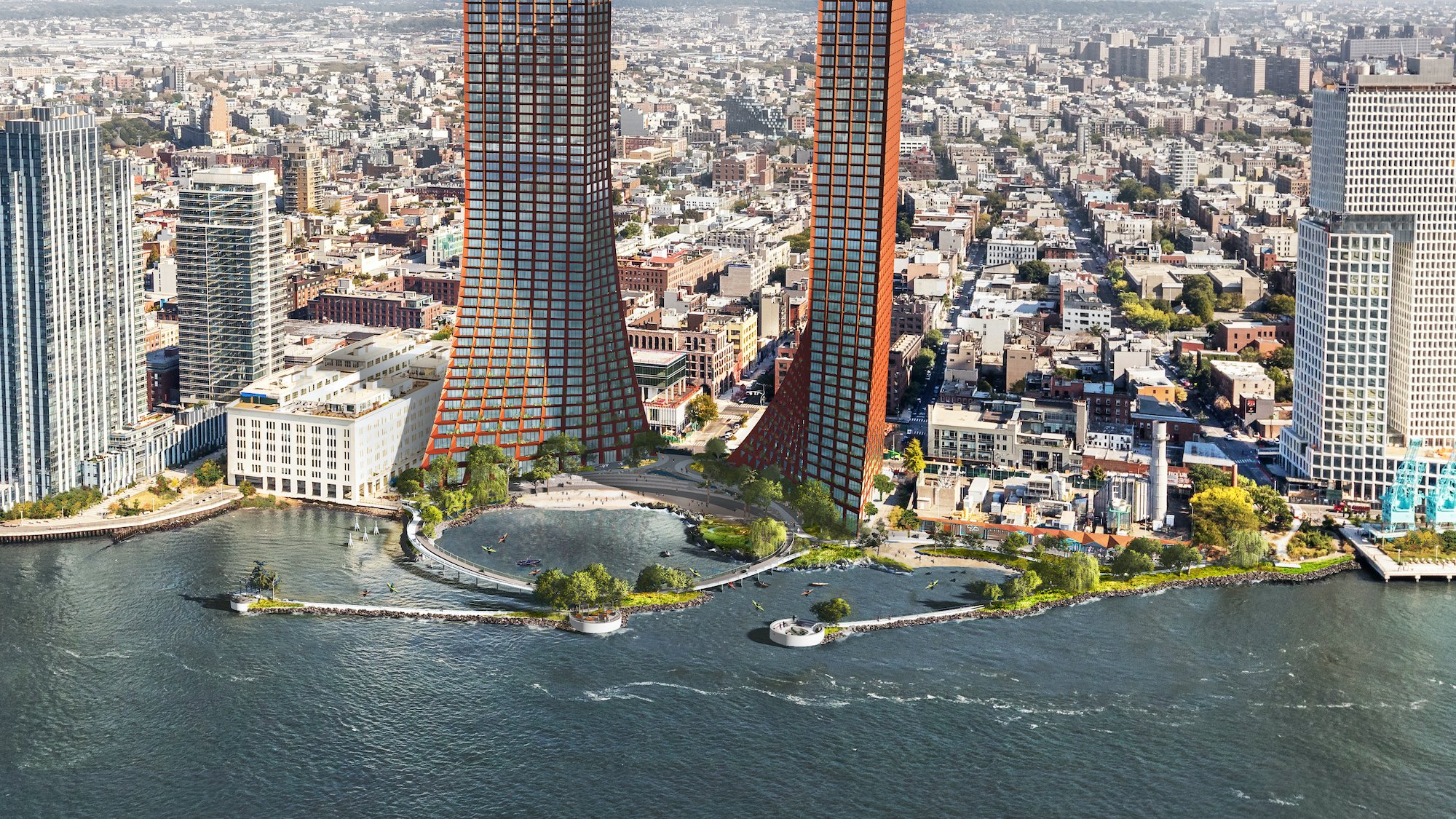 01_RIVER_credit_-%C2%A9-James-Corner-Field-Operations-and-BIG-Bjarke-Ingels-Group-courtesy-of-Two-Trees-Management Massive Bjarke Ingels-designed apartment towers and public beach planned for Williamsburg