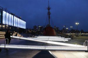 wave field, seaport, pier 17, public art