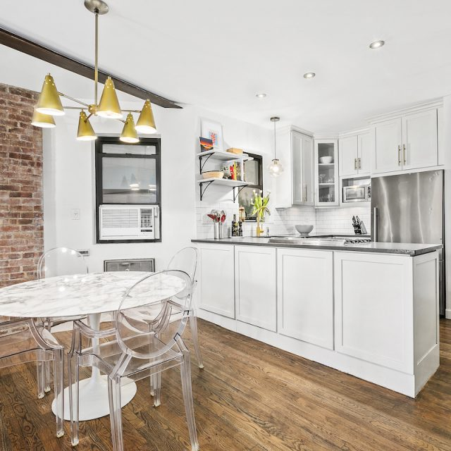 For $875K, this bright two-bedroom with lots of exposed brick is a Lower East Side classic