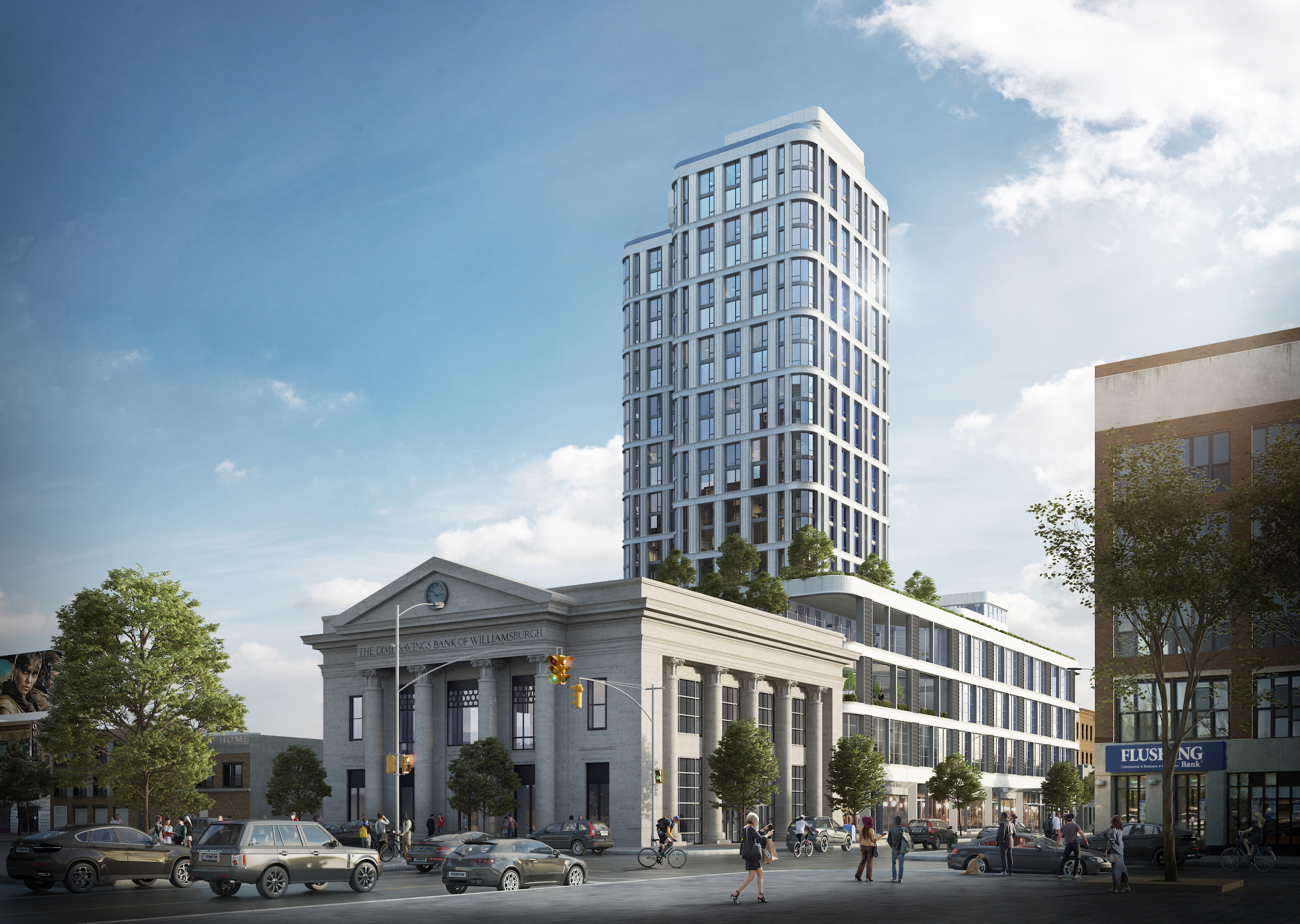 Dime Savings Bank, The Dime, Williamsburg, Housing lotteries, affordable housing, charney construction and development, fogarty finger architects, tavros development partners