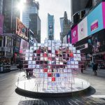 Times Square Arts, Valentine's Day heart 2020, eric forman studio, MODU, public art