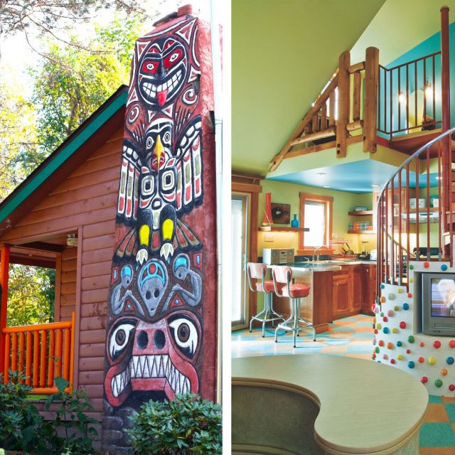 Escape the everyday in a retro Catskills cabin by Kate Pierson of the B-52s