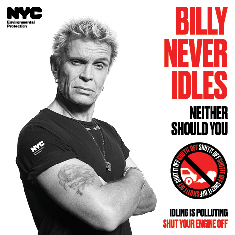 billy idol, bill de blasio, idling, pollution, environment