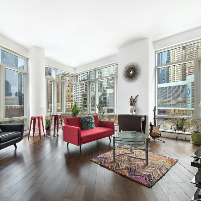 For $1.75M, a corner Battery Park condo with direct Freedom Tower views