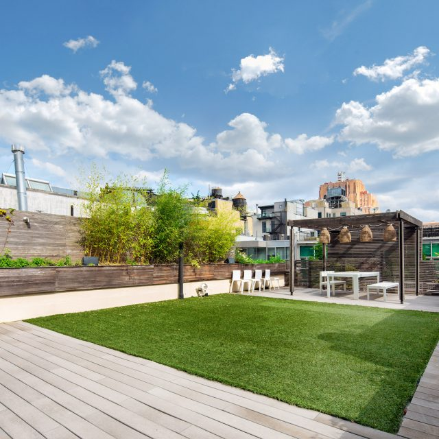 Two terraces and a grassy rooftop oasis make this $7.85M Tribeca penthouse a dream