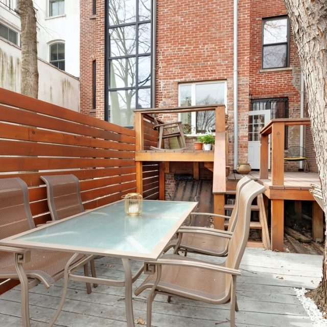 For $7,000/month, rent this modern Clinton Hill townhouse with a treehouse-like backyard