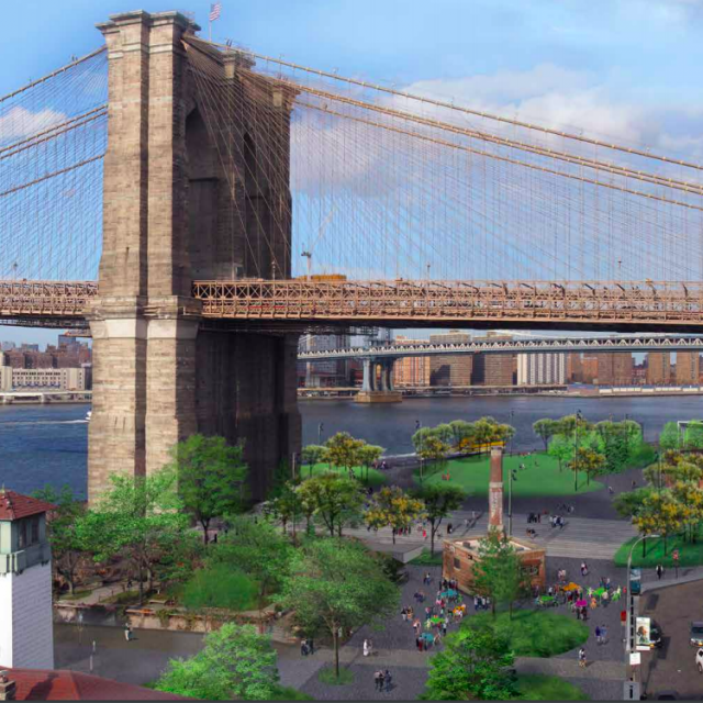 Plan to build pedestrian plaza under the Brooklyn Bridge moves forward