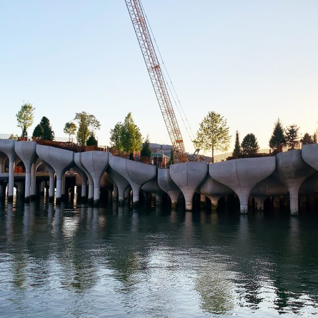 New photos show 'Little Island' offshore park making progress at Pier 55