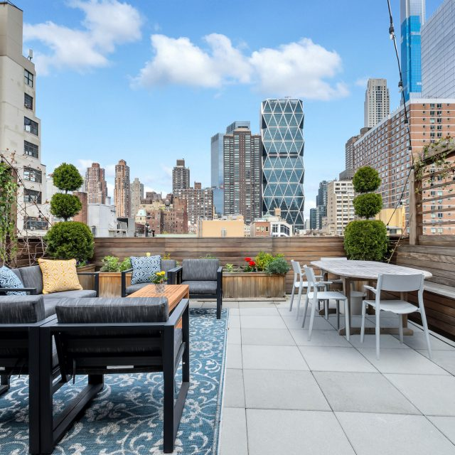 In Hell's Kitchen, this $2.3M penthouse has a roof deck with views of Billionaires' Row