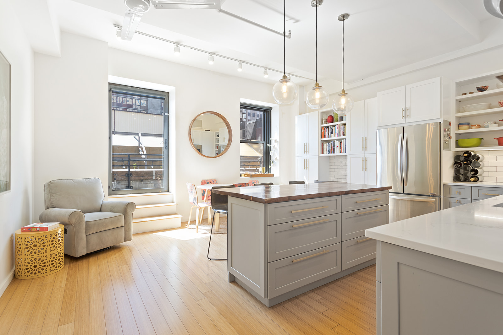 In Brooklyn S First Skyscraper This 1 4m Condo Has A Magazine Ready Kitchen And A Private Terrace 6sqft