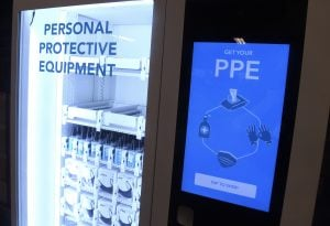 NYC subway, PPE vending machine