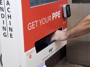 NYC subway, PPE vending machine