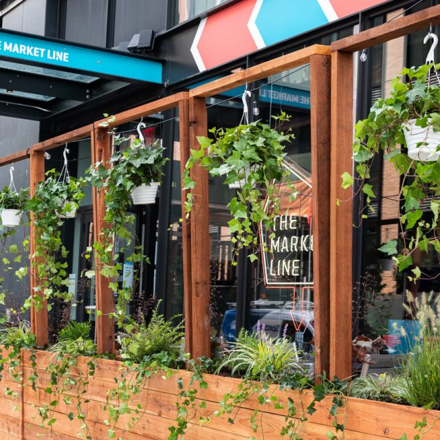 Outdoor dining comes to two NYC food halls