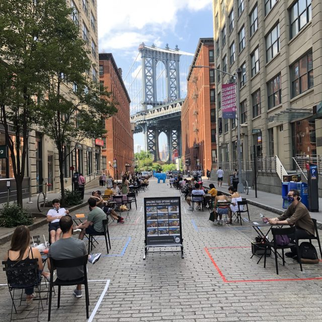 Brooklyn's most photographed block opens for outdoor dining