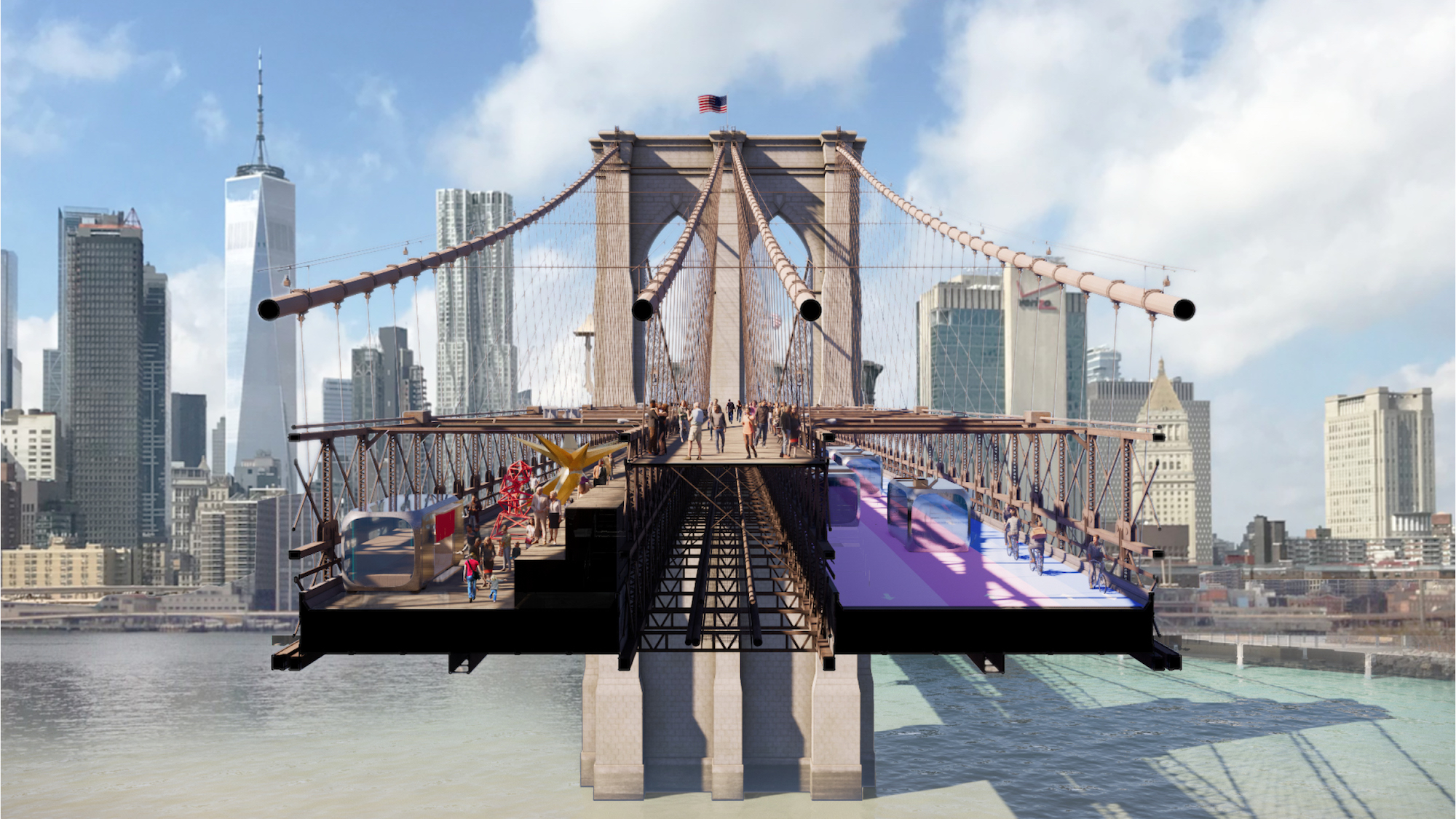 2020 Halloween Nyc Bridges See the design proposals that would make the Brooklyn Bridge a