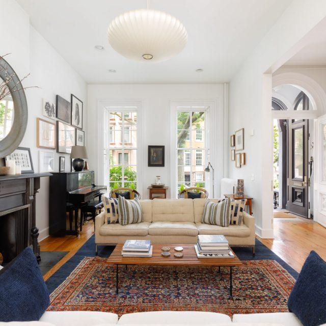 $5.9M Boerum Hill townhouse has a garden-level apartment and loads of light