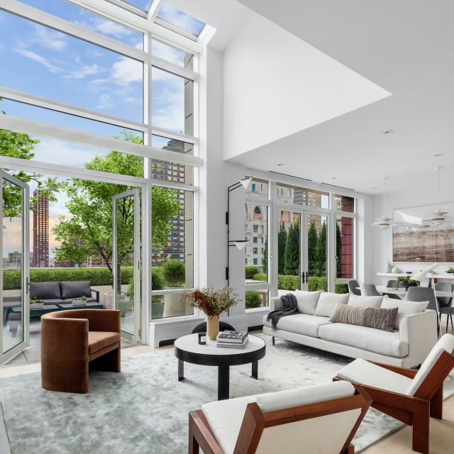 $9.2M Upper East Side penthouse has four terraces and a famous neighbor