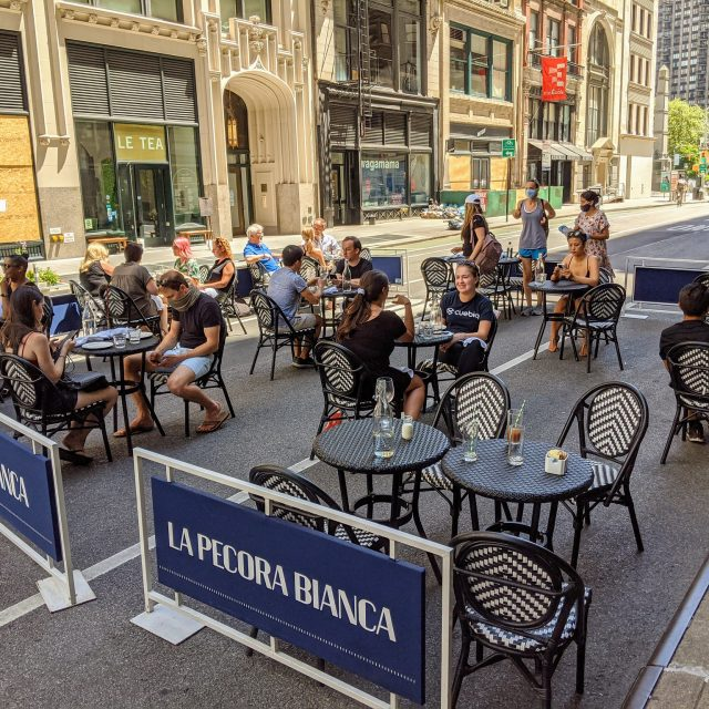 40 NYC streets will now be open for outdoor dining on weekdays