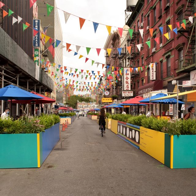 Chinatown's historic Mott Street is transformed into an outdoor dining oasis