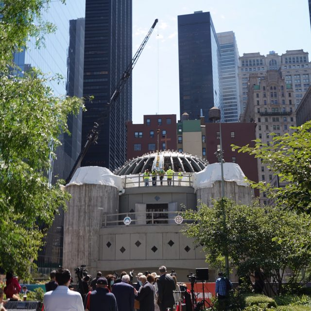 After original church was destroyed on 9/11, construction restarts at new St. Nicholas Shrine