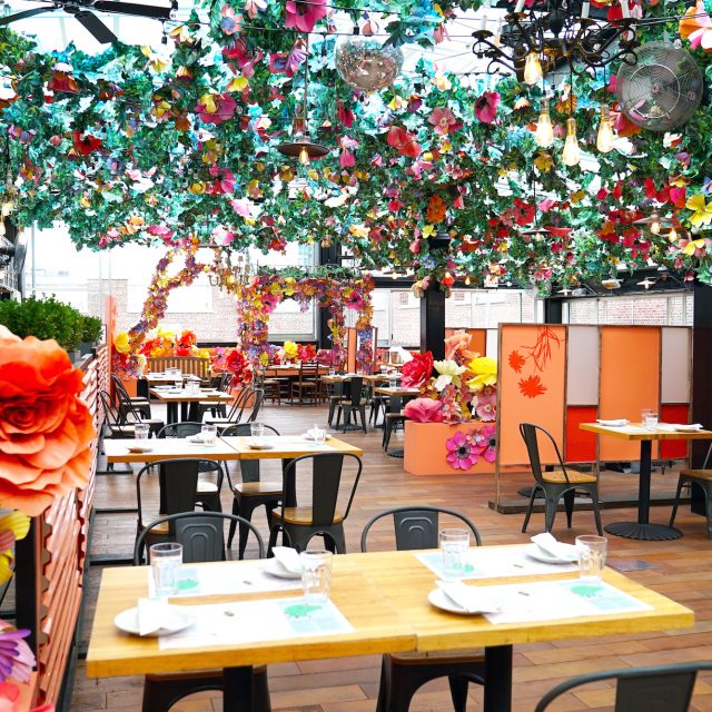 Eataly's flowery rooftop to reopen with DIY gin drinks and summer dishes