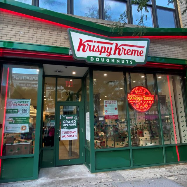 Krispy Kreme opens in Harlem with NYC's first doughnut hot light