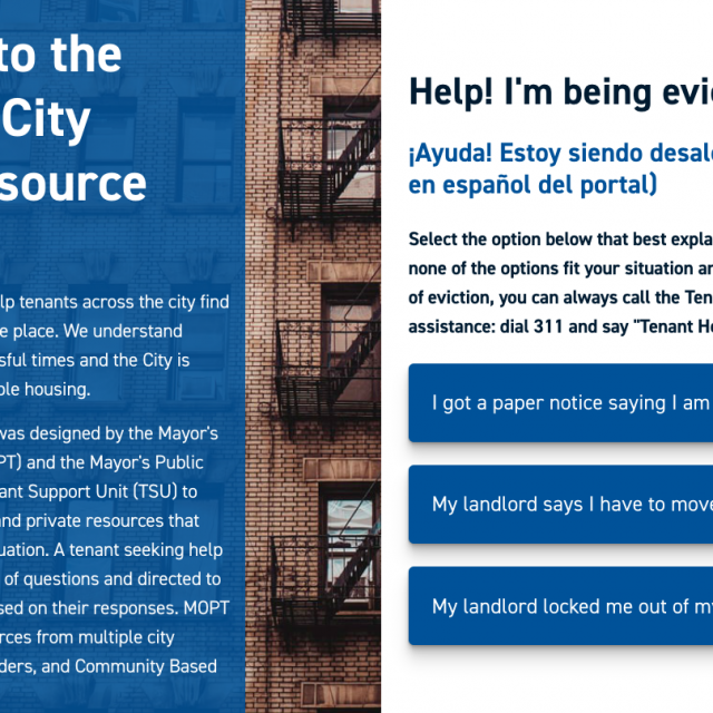 NYC launches online portal with free eviction help