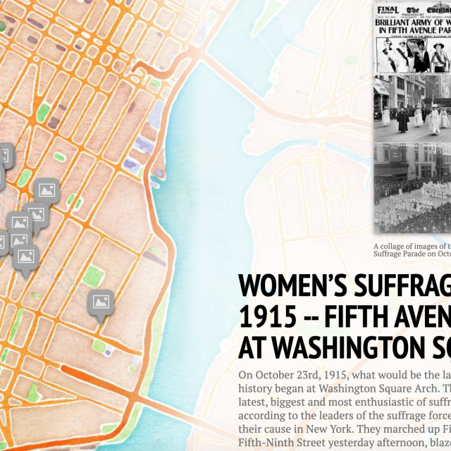 New interactive map tells the story of women's suffrage in Greenwich Village