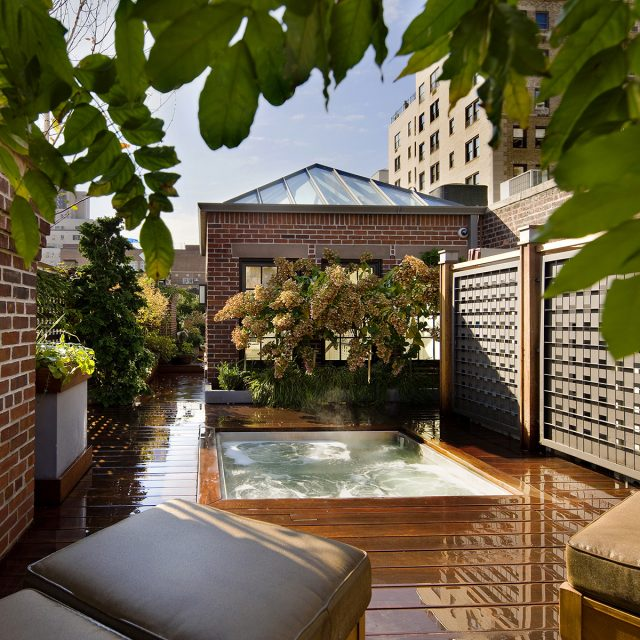 $16.5M Upper East Side townhouse has a magical roof garden with a mini pool