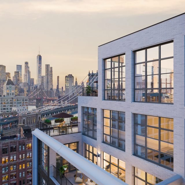 Morris Adjmi's mixed-use towers top out in Dumbo