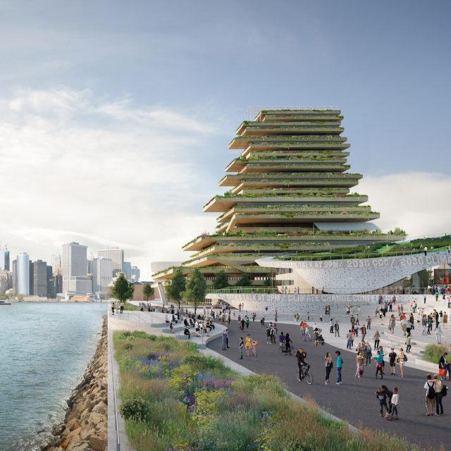 See the ambitious proposal for a climate change research center on Governors Island