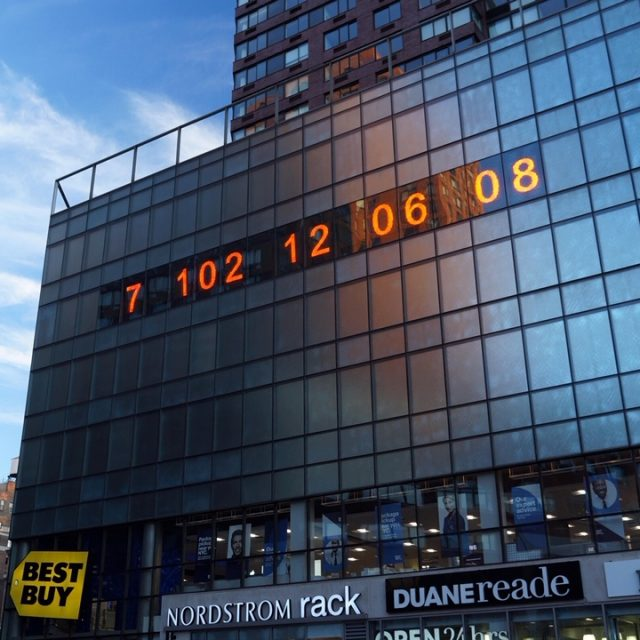 In Union Square, a massive 'climate clock' counts down to Earth's deadline