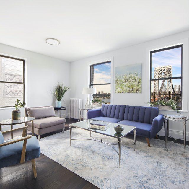 $800K Washington Heights two-bedroom has beautiful George Washington Bridge views