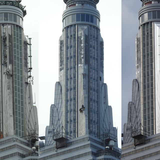 Empire State Building's Art Deco spire returns in all its glory after restoration